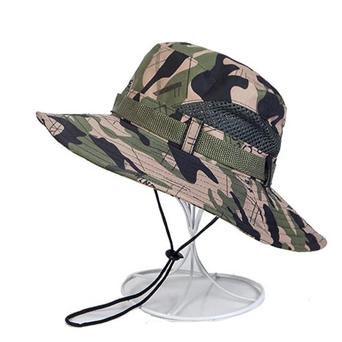 Dedesty Camouflage Bucket Cap Hat with String Men Women Cap Sun Hats Cap 1 1d7661c432d