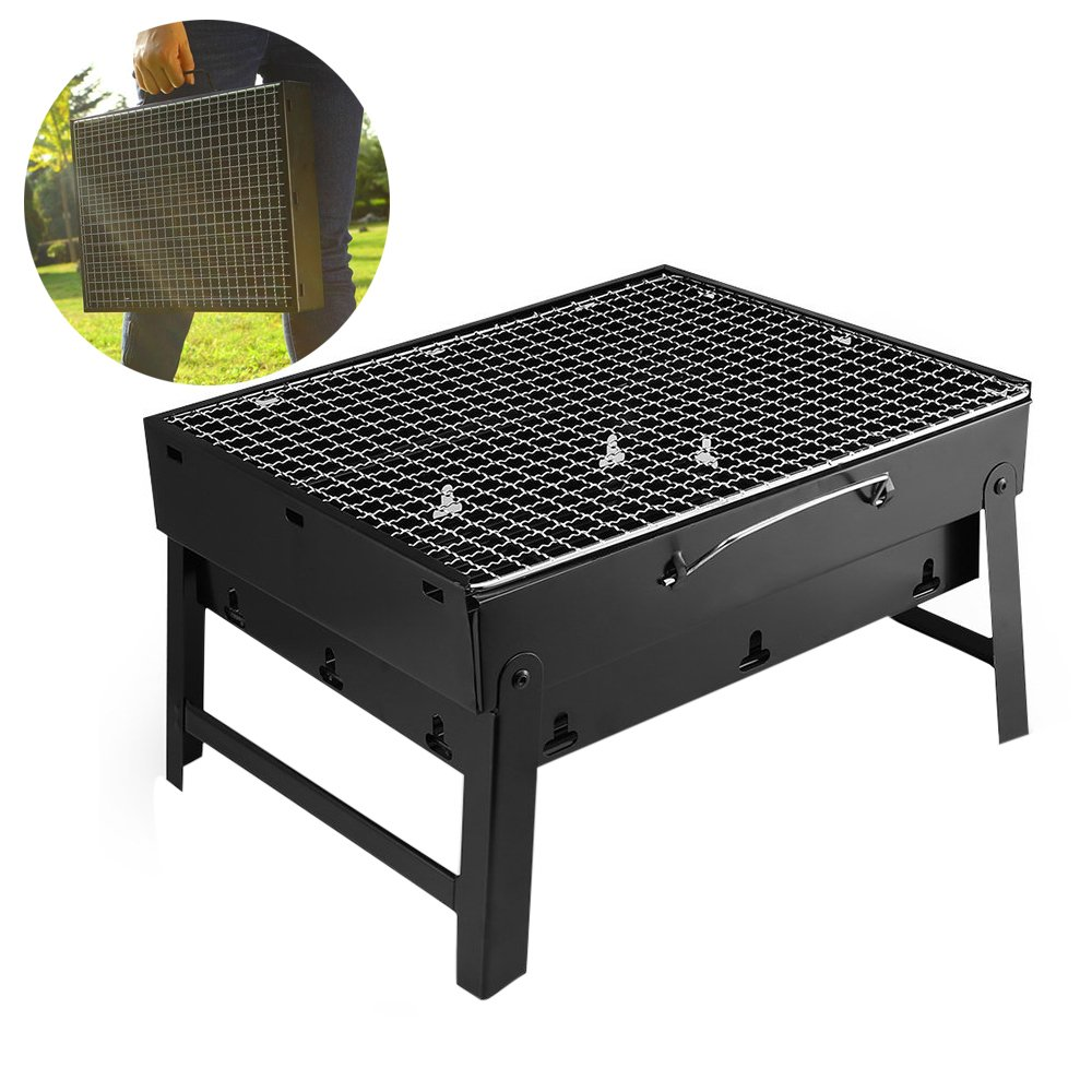 ONEGenug Barbecue Charcoal Grill Folding Portable BBQ Tools for Outdoor Cooking Camping Hiking Picnics Tailgating Backpacking Small