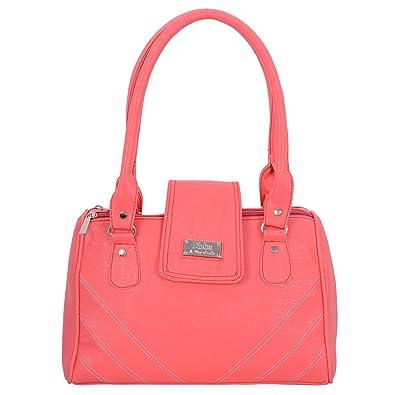 N Disha Women S Handbag Double Handle Shoulder Handbag Pink Colour