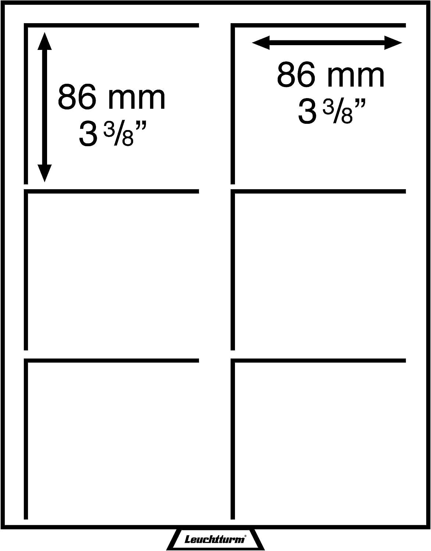 Innenformat: 270 x 210 mm F/ür Diverse M/ünzen Leuchtturm 303584 M/ünzbox XL mit 22 mm Tiefe ohne Facheinteilung Eckige F/ächer Rauchfarben