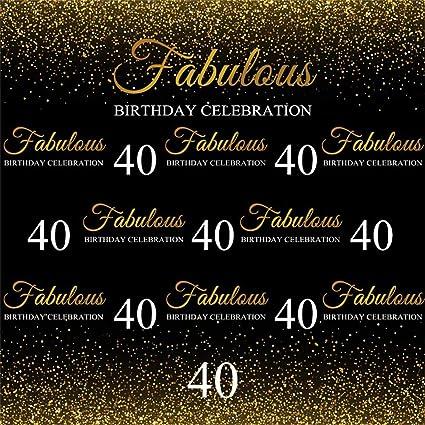 Amazon.com: AOFOTO 8x8ft Fabulous 40th Birthday Backdrop Cloth