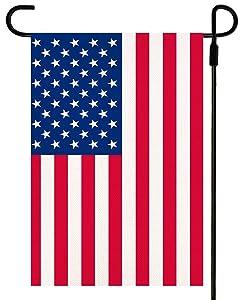 Premium American Flag Garden Flag Vivid Color UV Fade Resistant Burlap Vertical Double Sided US Garden Flag 12.5 x 18 Inches, Mini Small Patriotic American Flag Yard Flag Décor for Outdoor