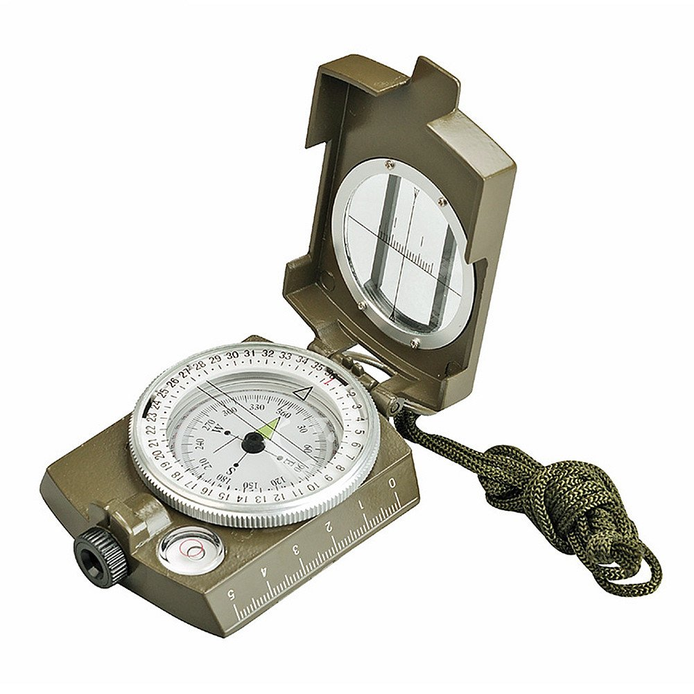 SUNFUNG Military Optical Lensatic Prismatic Sighting Compass High Accuracy Waterproof Compass Green by Sunfung