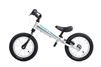 Tootoo Alu 12 Balance Bike In Silver Blue Toys Games
