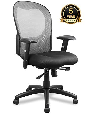 Becozier Ergonomic Office Chair, Mesh Desk Task Chair with Lumbar Support and Super-Thick Mesh Seat-Cushion, Adjustable Head 3D Flip-up Arms, Swivel Task Chair for Office Conference Room