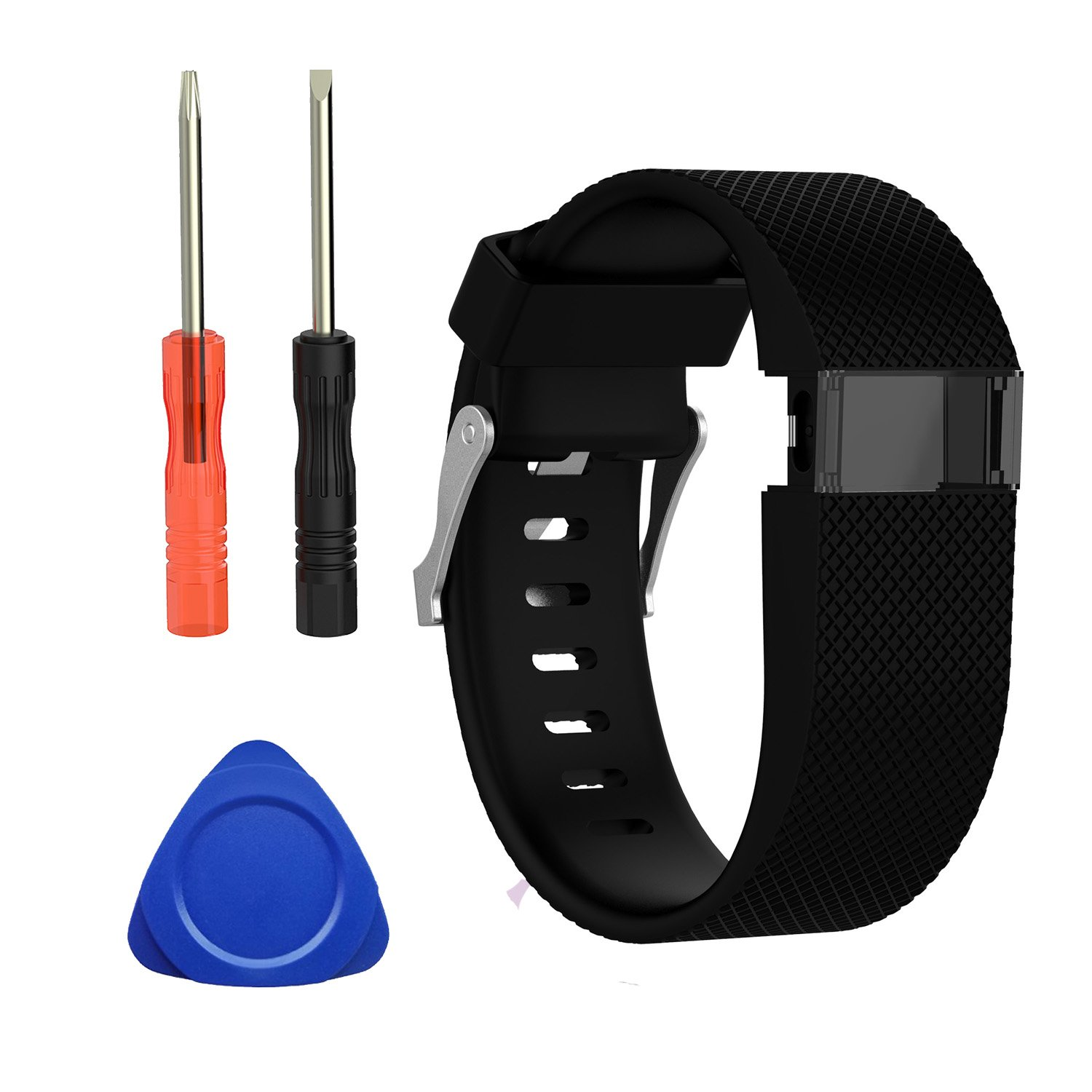 I-SMILE Fitbit Charge HR Bands, Sepcial Colorful Edition Soft Silicone Adjustable Replacement Wristband with Metal Buckle Clasp for Fitbit Charge HR Bands