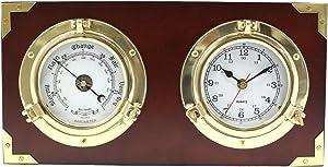 Porthole Quartz Clock and Barometer