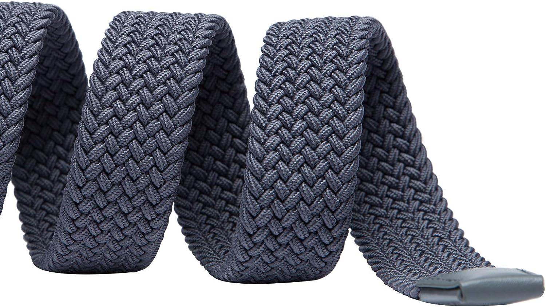 Colori Multipli 1.25 TANGCHAO Cintura Elastica Intrecciata per Uomo e Donna Cinturino Elastica Intrecciata con Fibbia in Lega di Zinco 33mm