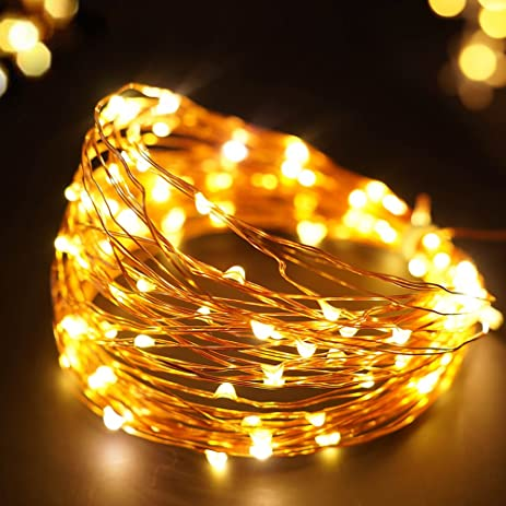 bright zeal solar christmas lights outdoor string lights 33 ft long copper wire - Solar Christmas Yard Decorations
