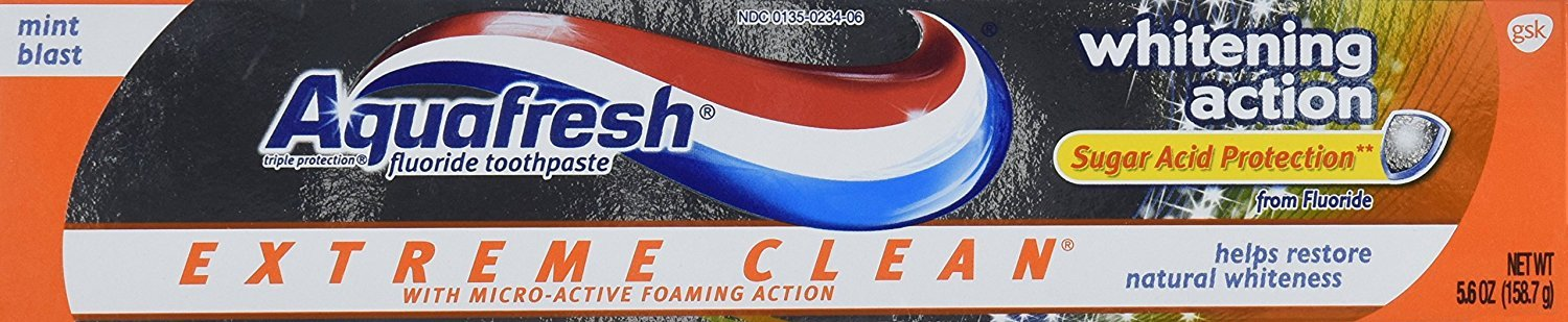Aquafresh Extreme Clean Whitening 5.6 Ounces (Pack of 2)