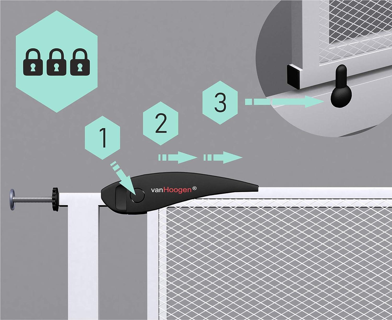 largeurs 60-120 cm sans per/çage portes escaliers enfants b/éb/és chiens VISTA XS Barri/ère de s/écurit/é pour porte 90cm de hauteur suppl/émentaire