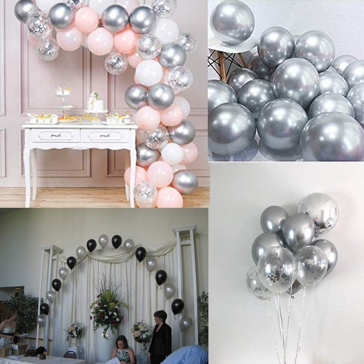 F/ête Mariage et Decoration Nouvel An 50 Ballons Or Noir 1 Ballon Confettis 90 cm Ballon G/éant XXL Transparent avec Confettis Dor/é pour Deco Anniversaire