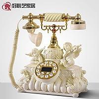 Cupido Angelo Retro telefono Moda Carino lo stile Fissa Oggetto d'antiquariato europeo home Telefonia fissa via cavo-A 25x29cm(10x11inch)