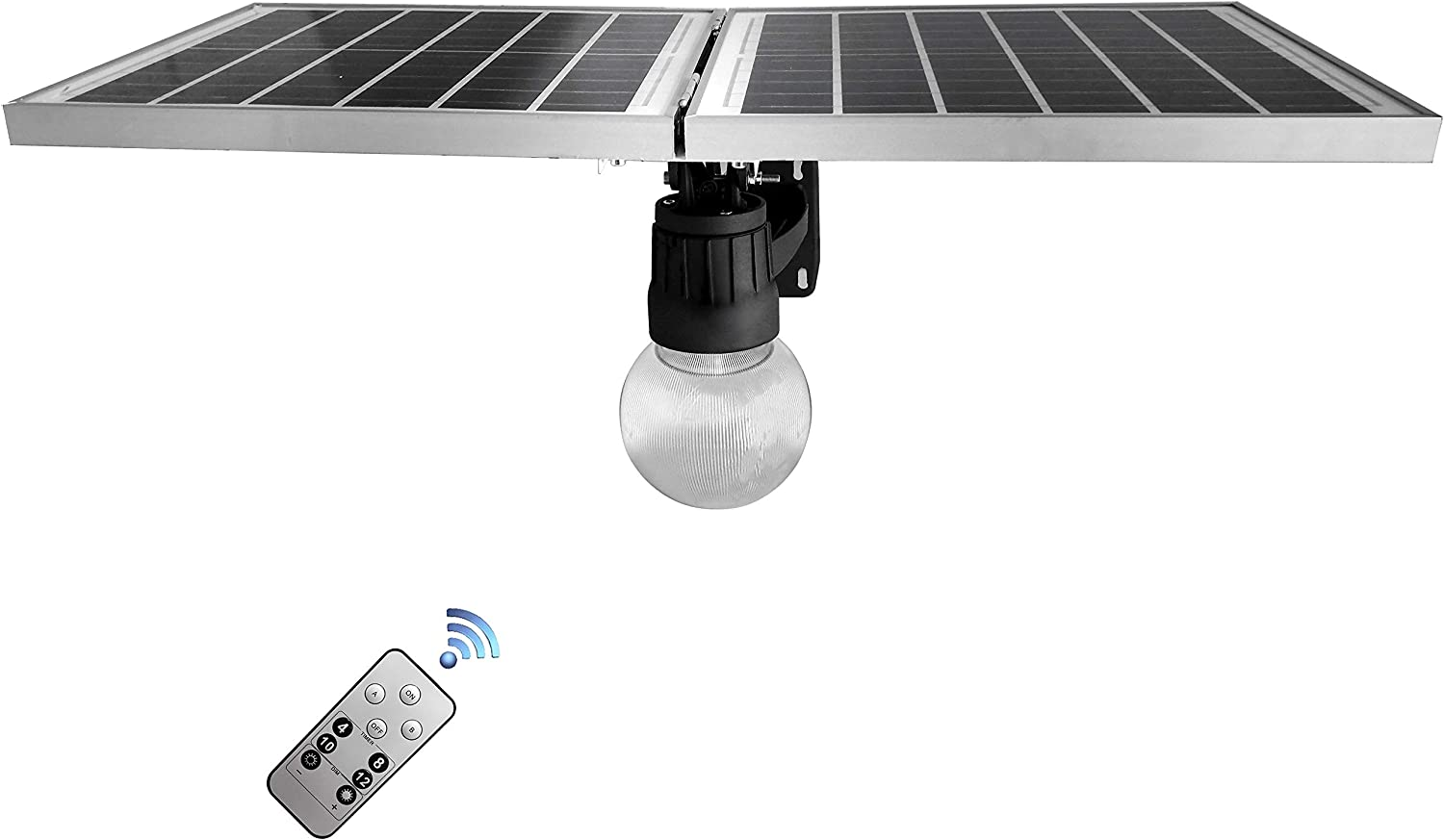 BestDrop Solar Street Flood Light Outdoor Wall LED Lamps Orb Garden All in One sunforce Dusk to Dawn Solar Smart Pathway Pole Lights for Garage Courtyard Backyard Patio Eaves Fence 150W (Mixed, 150)