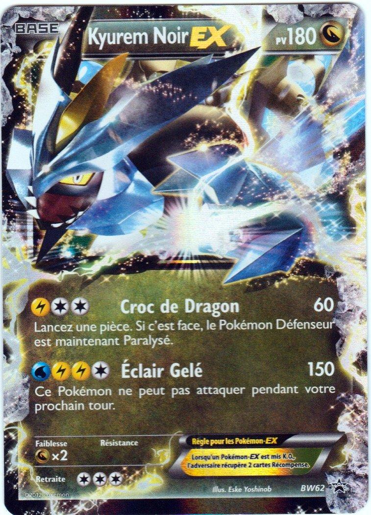 Carta Pokemon KYUREM negra EX Holo, reverso BW62 180 PV ...