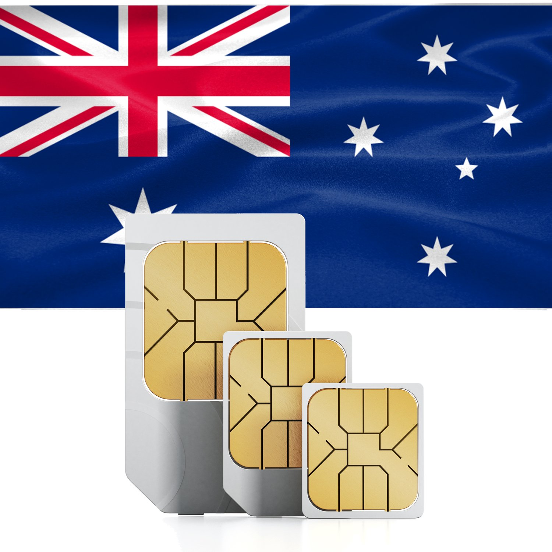 Tarjeta SIM Prepagada De Datos Australia & Nueva Zelanda - 3 GB Internet Móvil Rápido 30 Días Standard Micro Nano
