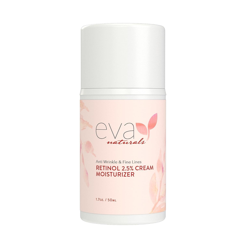 Retinol amounts in moisturizers - Amazon Com Retinol Moisturizer Cream For Face 2 5 By Eva Naturals 1 7 Oz Best Retinol Cream Anti Aging Defense Against Breakouts And Deep Hydration