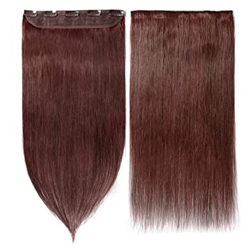 Clip In Hair Extensions Human Hair One Piece Human Hair Extensions 5 Clips 100 Remy Human Hair