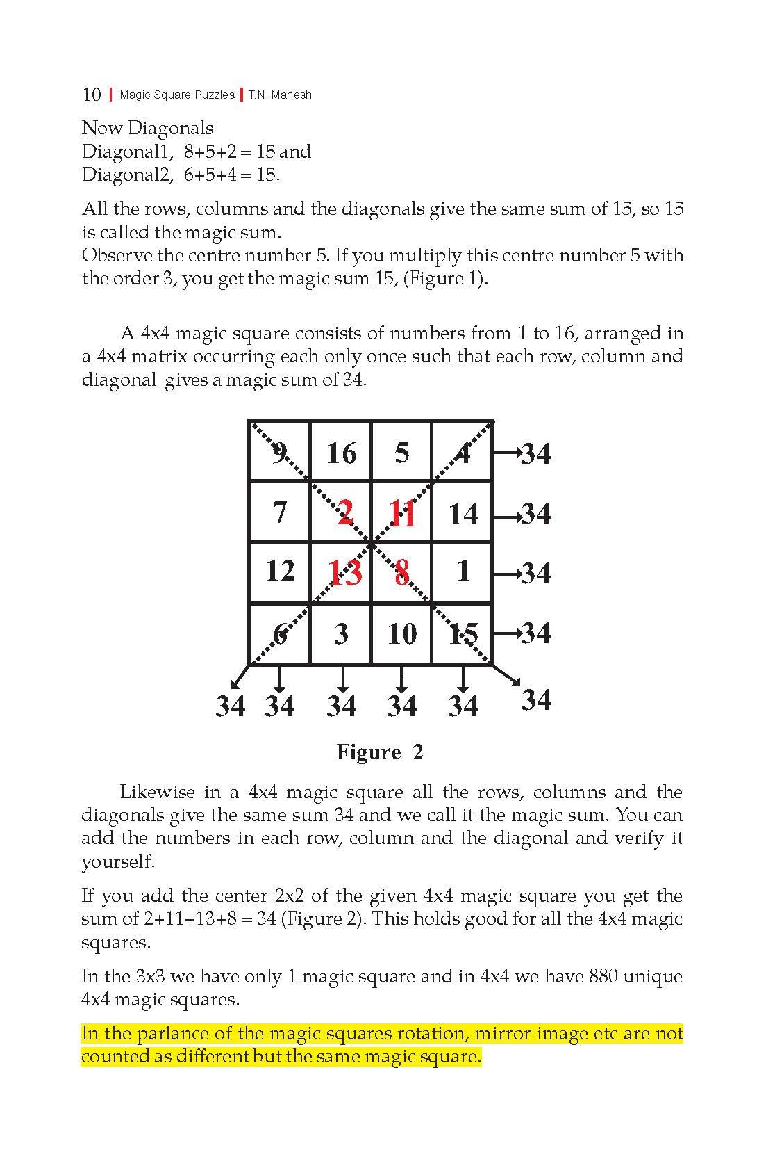 Buy Magic Square Puzzles (First Edition 2016) Book Online at Low