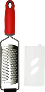 Cheese Grater/Citrus Zester - Fine and Coarse 2-in-1 Premium Quality Stainless Steel Blade, Dishwasher Safe | by Lynn & Riley