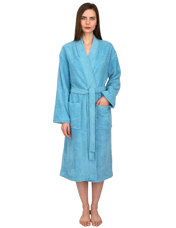 5e032c5ab1 TowelSelections Women s Robe Turkish Cotton Terry Kimono Bathrobe Made in  Turkey at Amazon Women s Clothing store