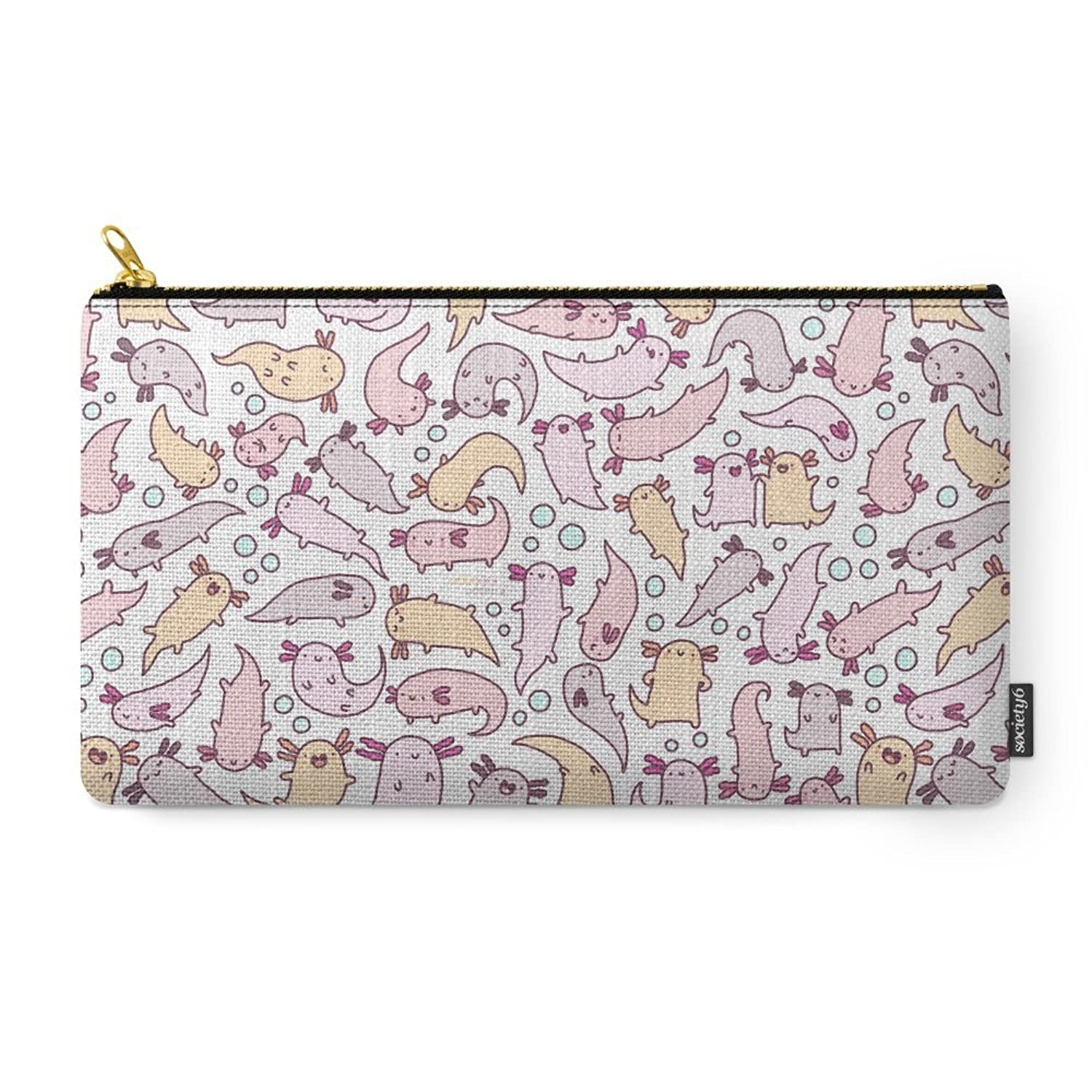 Society6 Adorable Axolotls Carry-All Pouch
