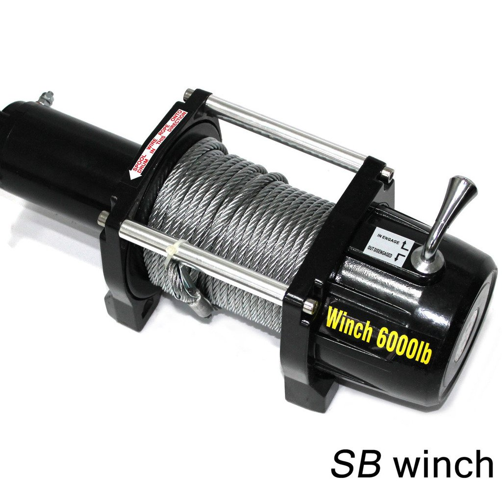 VioletLisa 6000lb / 2722kg Capacity 12V Electric Recovery Waterproof Winch With Wired Switch & Wireless Remote for Pickup Truck Car SUV Jeep Trailer Boat by VioletLisa (Image #3)