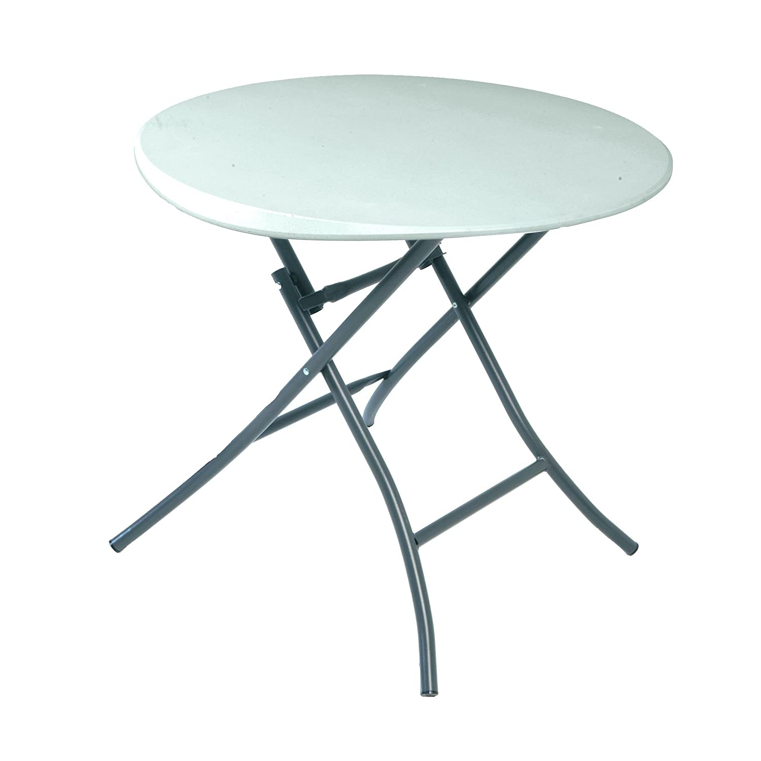 Lifetime 2.7 ft (0.83 m) Round Folding Table - White 80423