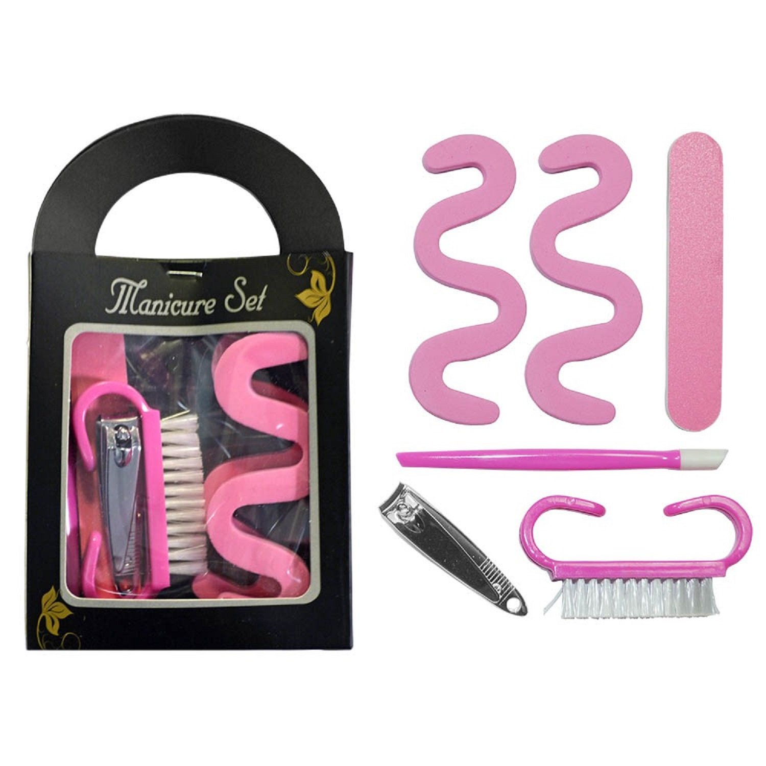 6 Piece Girls Mini Manicure Set Travel Kit Gift - Party Bag Fillers/Christmas Stocking Fillers Bits 'n' Bobbles
