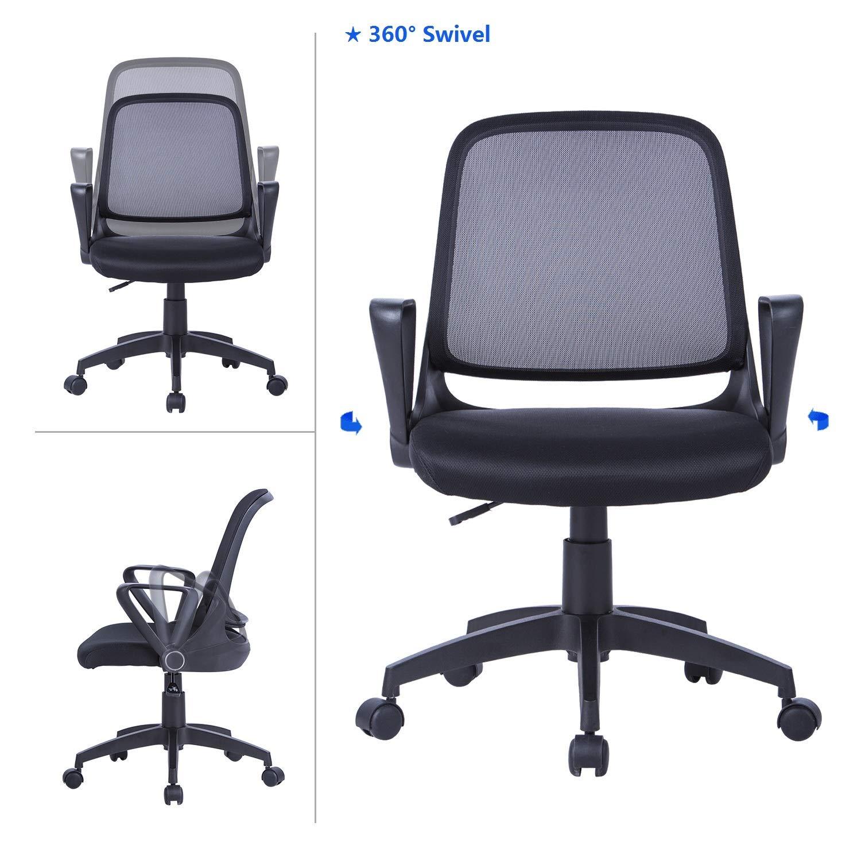 MBOOO - Juego de 20 sillones de escritorio con respaldo ...