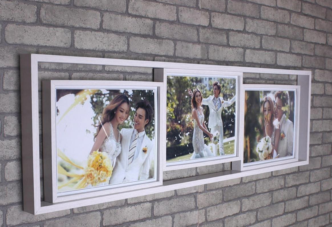 OOFYHOME Wand-Collage Bilderrahmen Hängen, Passend für Drei-8 ...