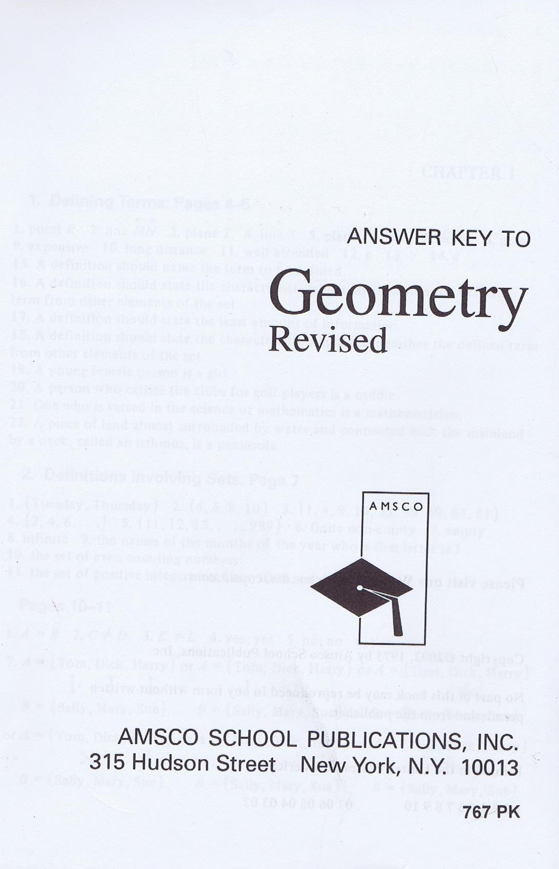 Amscos Geometry Textbook Answers