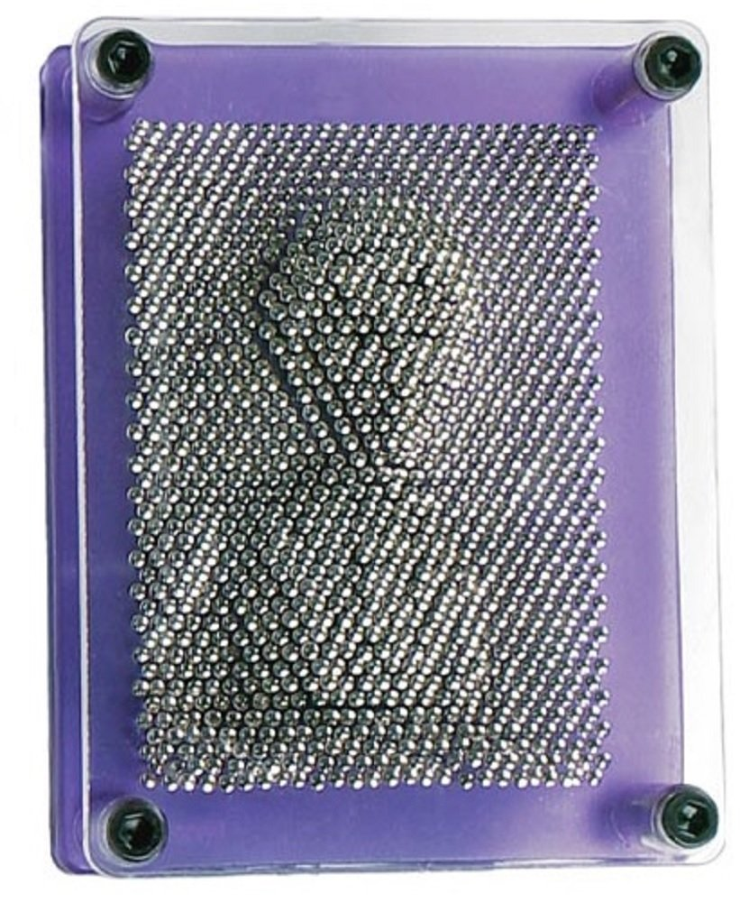 Toysmith Pin Art 3-D Sculpture with Translucent Purple Frame