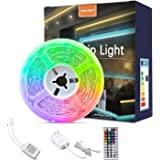 LED Strip Lights, 16.4ft RGB Color Changing Light Strip Kit with Remote and Control Box for Room,Bedroom, TV, Cupboard…