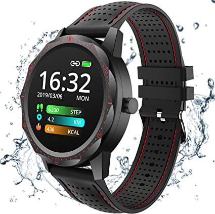 COLMI Smart Watch, Wearable Wrist Watch with All-Day Heart Rate Blood Pressure Monitor, Waterproof Fitness Tracker for Men Women, Bluetooth Pedometer ...