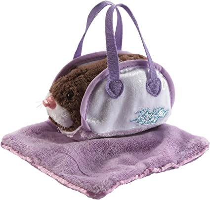 Zhu Zhu Pets Hamster Carrier and Blanket Blue Cepia