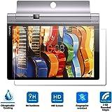 Lenovo YOGA Tab 3 強化ガラスフィルム Vikoo YOGA Tab 3  タブレット 採用0.33mm  0.25D 硬度9H ラウンドエッジ加工 防指紋、撥油性 耐衝撃 (YOGA Tab 3, 10.1インチ)