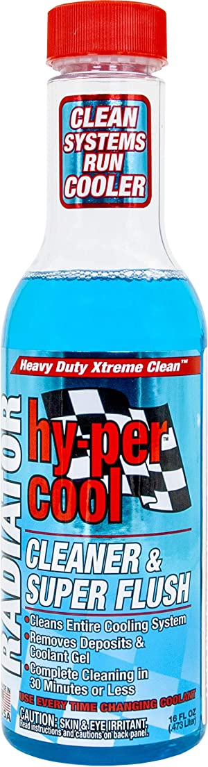 Hy-Per Lube HFL400 Hy-per Cool Radiator Cleaner & Super Flush - 16 oz.