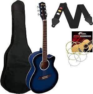 Tiger - Guitarra acústica para principiantes (tamaño pequeño ...
