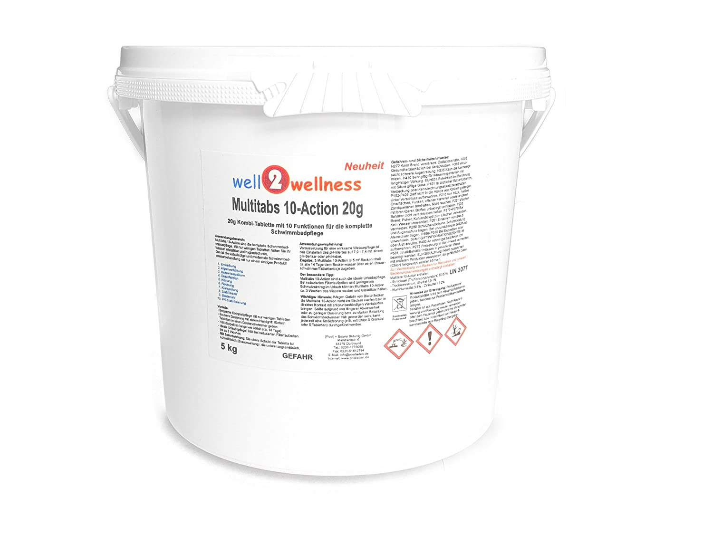 Cloro Mult itabs 10 de acción 20 g con 10 Funciones - 5, 0 kg ...