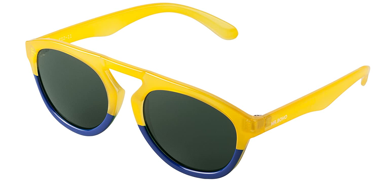 MR.BOHO Gafas de sol Honey/Dark Blue Wynwood with classical ...