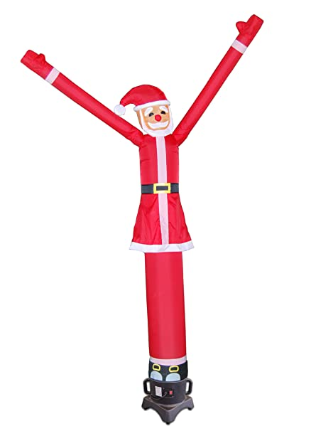 lookourway santa claus air dancers inflatable tube man attachment 10 feet no blower