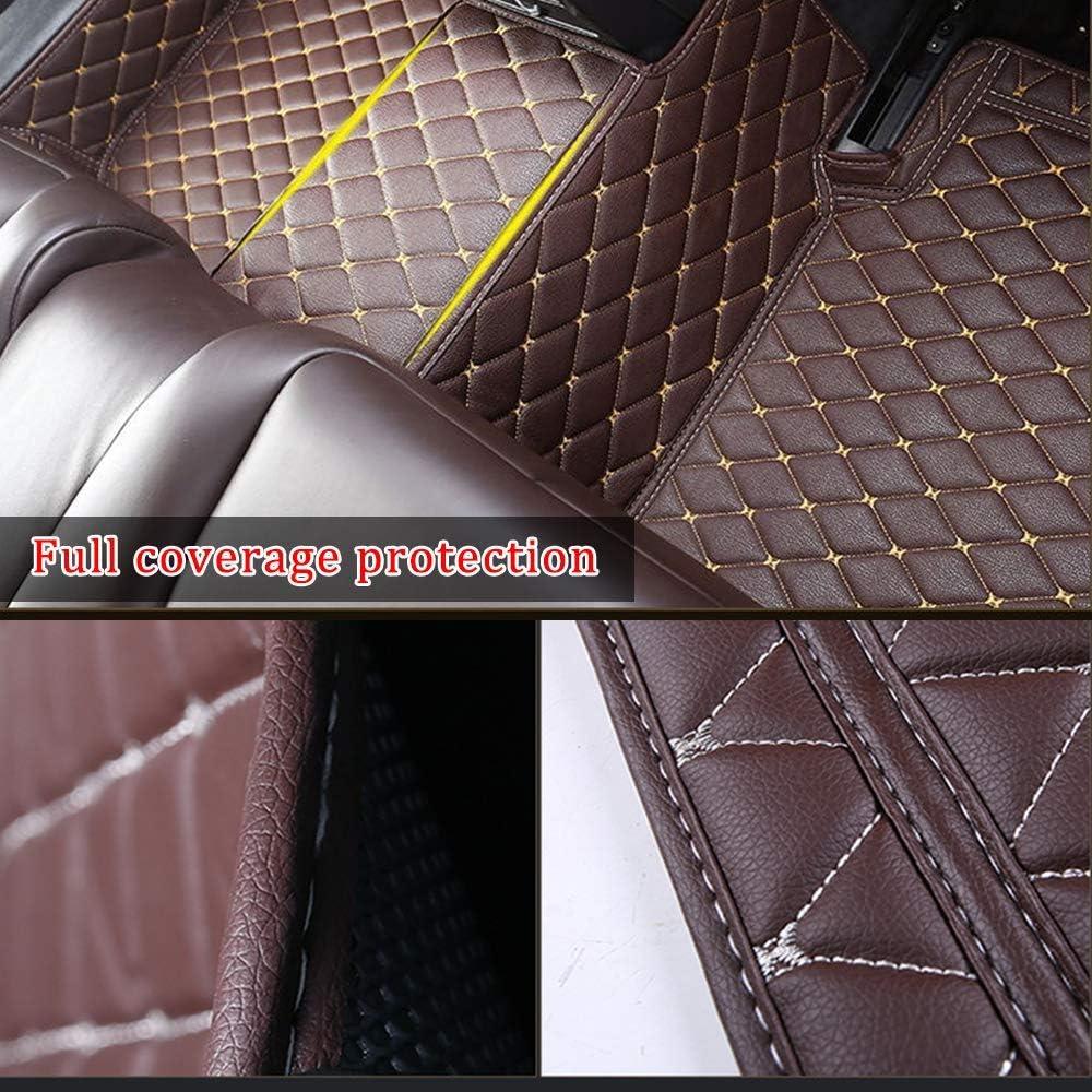 DBL Tapis de Sol pour Peugeot 5008 7seat 2013-2019 Tapis en Cuir imperm/éable /à leau Antid/érapant /Étanche Tapis de Sol Ensemble Beige