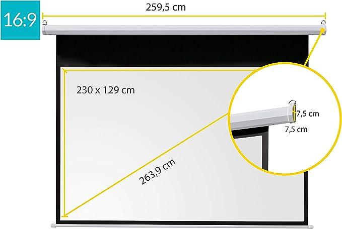 celexon Pantalla Motorizada linea Básica 240 x 135cm para cine en ...