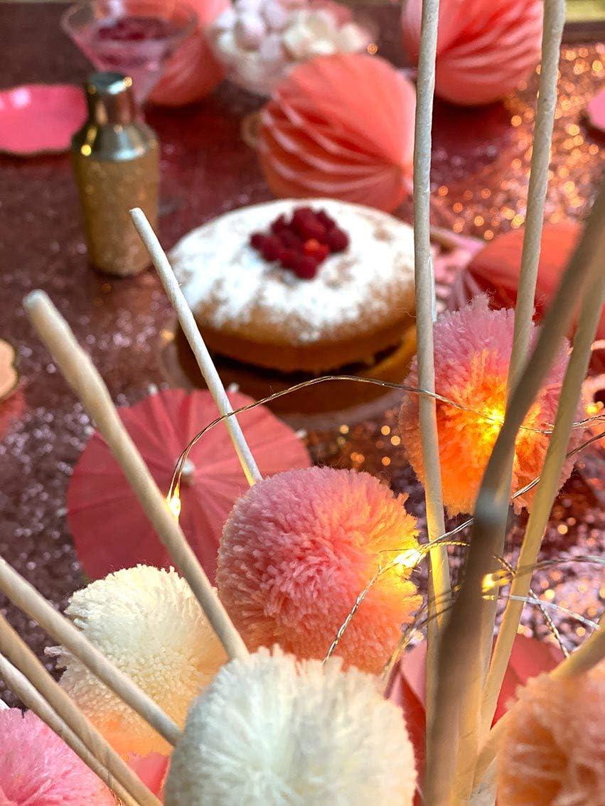 Plastica Talking Tables Light We Heart Pink Pom Lights 2M 20Leds