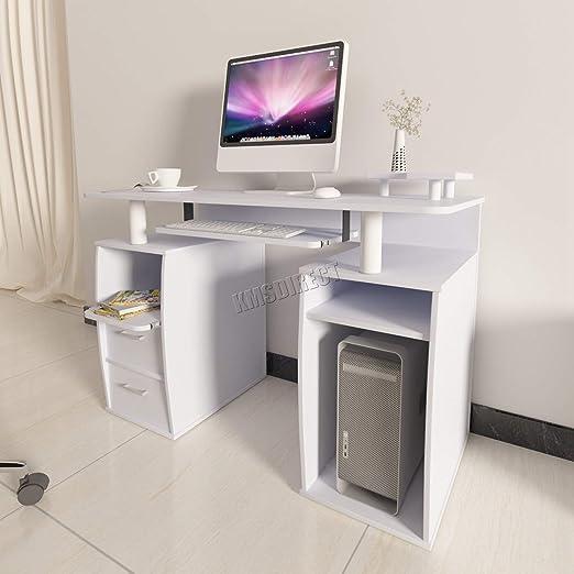 SL - Mesa de Ordenador con estantes para el hogar, Oficina ...