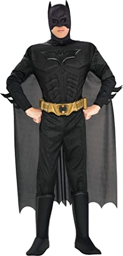Mens Arkham DC Comics Batman Superhero Halloween Fancy Dress Costume Outfit S-XL