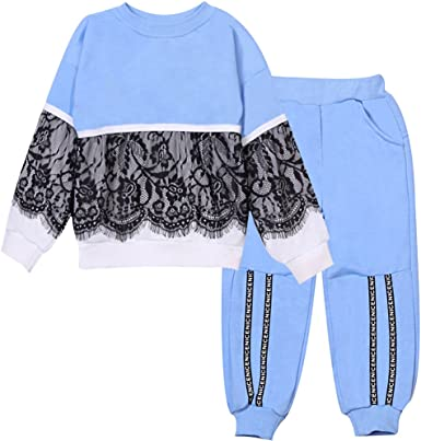 Baby Girls Clothes T-Shirt Pullover Pants Outfits Set Kids Tracksuit Loungewear