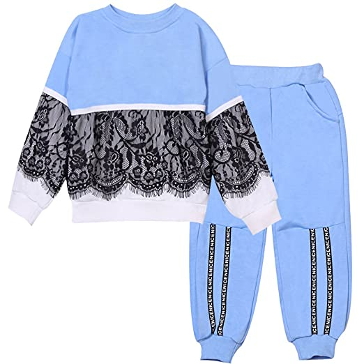 c9b73a3a758ab LZH Kids Girls Tracksuits Clothes Set Long Sleeve Outfit Top Pants Toddler  Suit