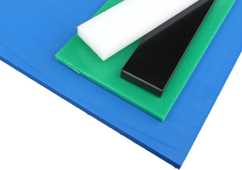Plaque coup/é de PE rigide 1000 x 495 x 20 mm noir Poly/éthyl/éne